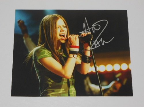 Avril Lavigne Under My Skin Hand Signed Autographed 8x10 Photo Loa (All Is By My Side Blu Ray compare prices)