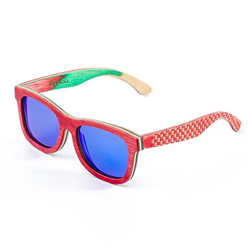 (Wood Sunglasses Polarized Hand-made From Skateboard Wood A Pair Of legs For Free)