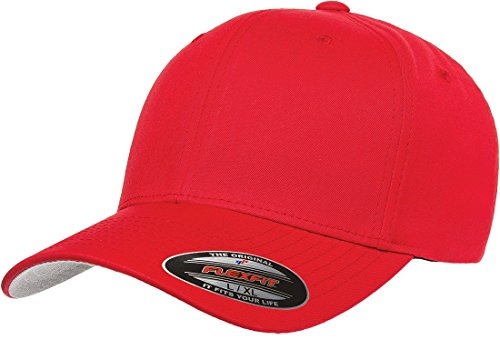 Flex Fit Visor - Flexfit Men's THP Premium Cotton Twill Hat, Red, XX-Large