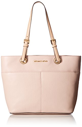 (MICHAEL Michael Kors Bedford Large Top-Zip Pocket Tote, Soft Pink )