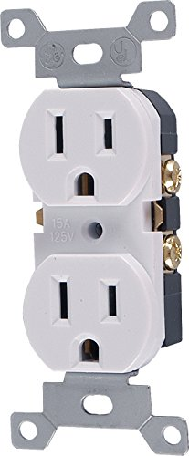 Outlet Replacement Electrical (GE 54263 15A 125VAC Duplex Grounded Receptacle Tamper Resistant, White)