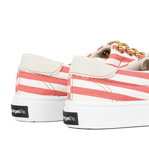 Red Oslo Flamingos' Life Stripes Size Sneaker 41 Unisex wAZUqZ