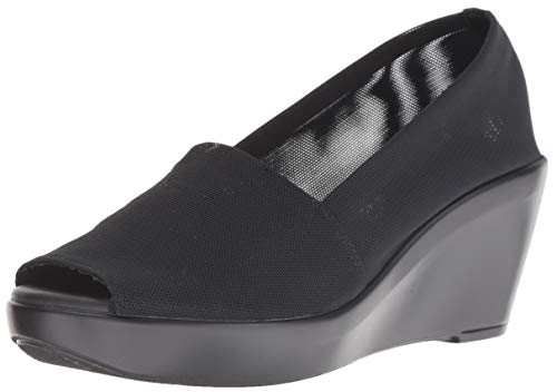 Athena Alexander Women's Pillow Talk Wedge Sandal Black Elastic 7.5 M US