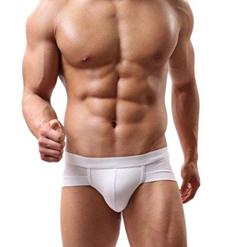 Hot SaleMen Sexy Trunks Underwear☀️Boxer Briefs Shorts Bulge Pouch soft Underpants (2XL, White)