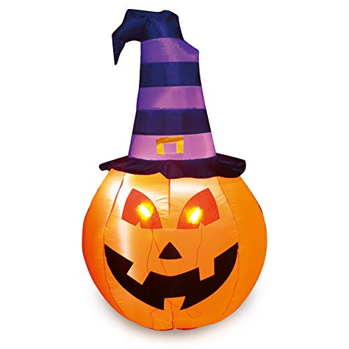 Joiedomi Halloween Pumpkin Witch Inflatable (5 ft)