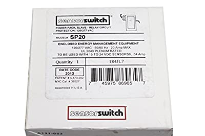 Sensor Switch Sp20 Power Pack Slave Relay Circuit Protection 120/277V, Black