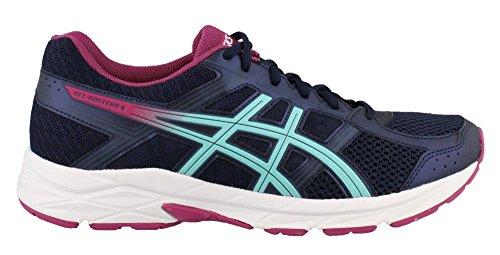 ASICS Womens Gel-Contend 4 Running Shoe, Peacoat/Blue/Fuchsia Red, Size 10