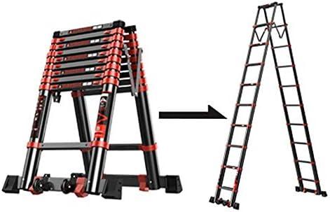 LADDER Escaleras Telescópicas, Escaleras Telescópicas de Uso Pesado Multiuso, Escalera de Extensión Profesional de Aluminio Portátil para Jardín con Rueda, Carga de 330 lb,3,5 m / 11.5ft: Amazon.es: Bricolaje y herramientas