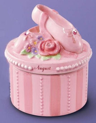 (Russ A Time To Dance Classics August Pink Ballerina Trinket Box)