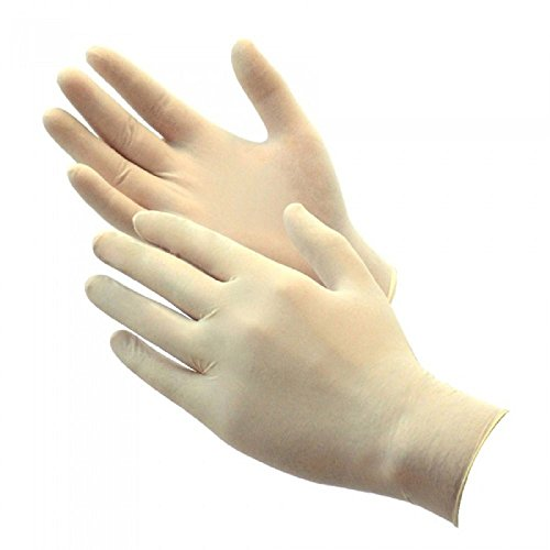 - Green Direct Latex Rubber Gloves Powder Free/Disposable Food Prep Cooking Gloves/Kitchen Food Service Cleaning Gloves Size Medium, Pack of 100