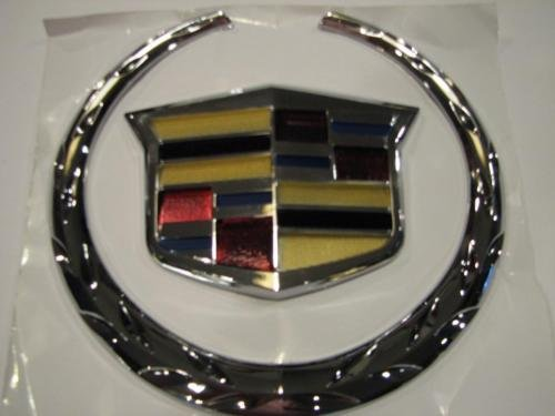 - 02-06 GM CADILLAC ESCALADE SUV EXT ESV DTS FRONT GRILL 3D UPGRADED EMBLEM BADGE
