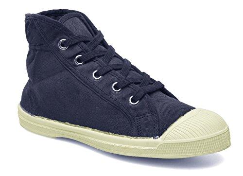 Tennis Mid Marine Bensimon Lacet Women's Top Canvas Sneakers Fashion qwqt7T58
