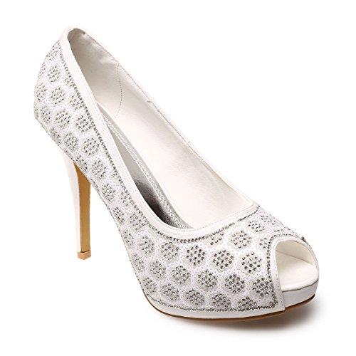 Mujer Material Modeuse Blanco De Vestir Zapatos La Sintético qUBnxSnw