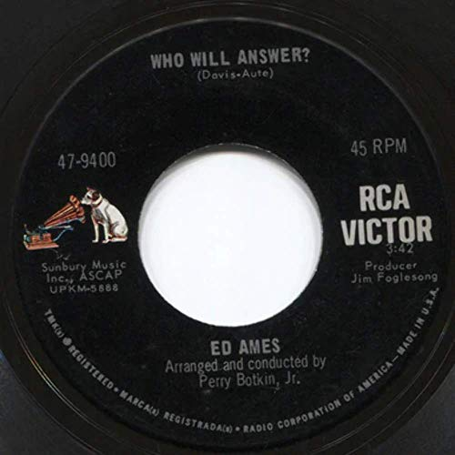 Ed Ames: My Love is Gone from Me/Who Will Answer? - 7