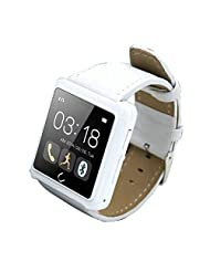 Lolipp Sleep Heart Rate Monitor Waterproof Bluetooth U Watch for Android Smart phone Smartphone,(White)