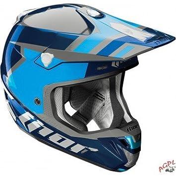 Casco Cross Thor Verge scendit-bleu/argent-m-01104304