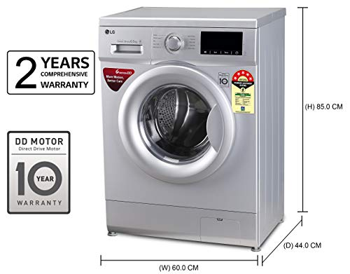 LG 6.5 Kg 5 Star Inverter Fully-Automatic Front Loading Washing Machine (FHM1065ZDL, Luxury Silver, Direct Drive… 2021 June Fully-automatic front load washing machine: best wash quality, energy and water efficient Energy Rating 5 Star: best in class efficiency Capacity 6.5 kg: Suitable for bachelors & couples
