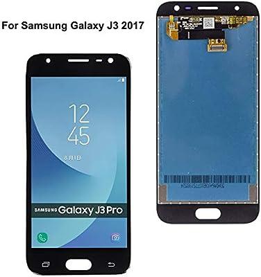 Pantalla táctil de Repuesto para Samsung Galaxy J3 2017 SM-J330 J330 J330F J330G, LCD, Pantalla táctil, Color Blanco y Negro, Parte LCD de 5 Pulgadas con Cristal Templado y Herramientas: Amazon.es: Electrónica