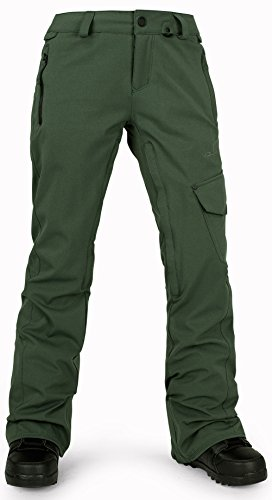 Volcom Junior's Plateau Snow Pant, Expedition Green, X-Small