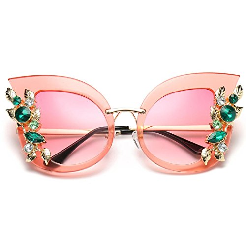 de clásicas Lentes diamante artificial las oído de del de Brillo gato del mujeres marco moda del Polarizado de UV Clásico sol unisex Portección del marca Espejo del B Gafas de metal la Sol Gafas la 4qtEOw