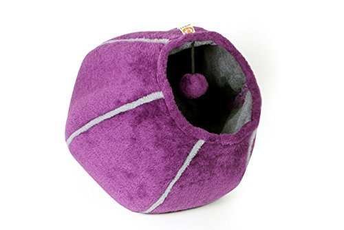 United Pets Kitty Cat Cozy Cave & Bed (Purple) by United Pets (Image #3)
