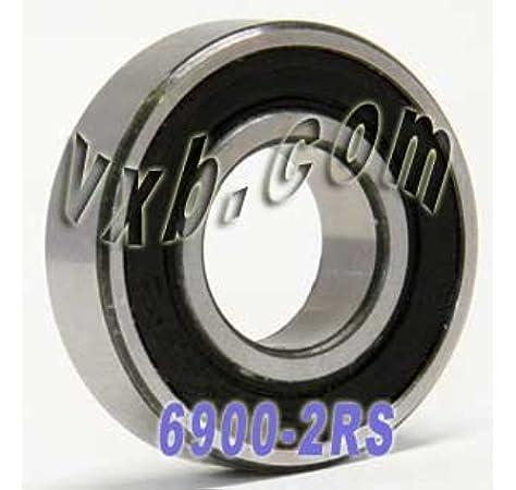 5 PCS 6001-2RS Metal Rubber Ball Bearing Bearings BLACK 6001RS 12x28x8 mm