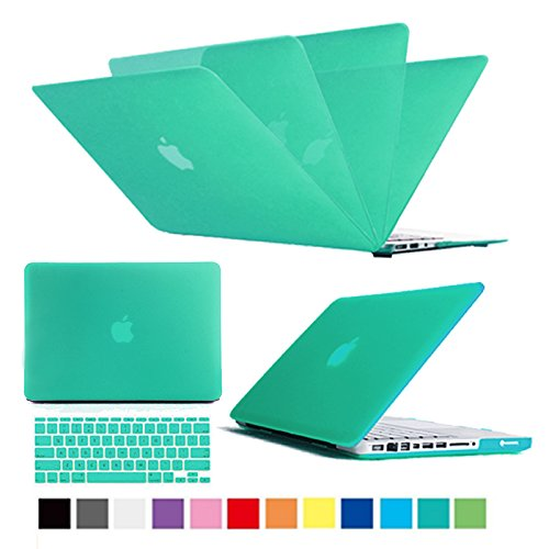 Multi Colors Hard Case Cover & Keyboard Cover Skin Snap On Case Cover For Macbook Air, Macbook Pro , Macbook Retina Display (Green, Macbook Pro 13'' With Retina Display) by Lotsaveoutlet