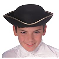 Rubie's Durashape Child Tricorn Hat, Black