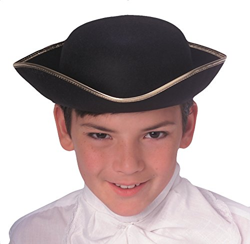 Hat Napoleon (Rubie's Durashape Child Tricorn Hat, Black)