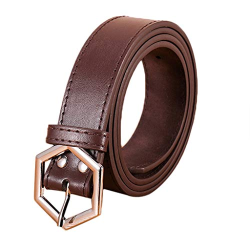 (Women Leather Belt Simple Vintage Casual Canvas Belt Buckle Letters Belt Men Waistband Leisure Belt)