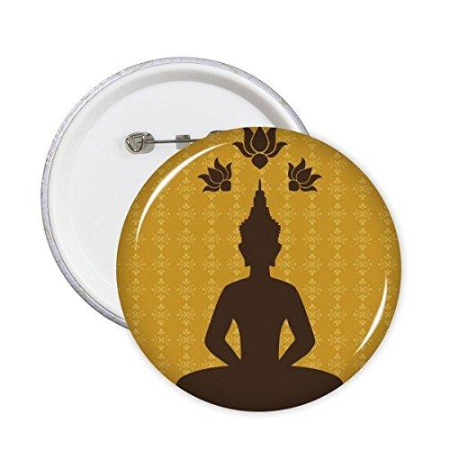 DIYthinker Royaume de Thaïlande Thai Culture Bouddhisme coutumes traditionnelles Statue de Bouddha Art Illustration Bouton rond Badge Pins Vêtements Décoration 5pcs S share00088314f6857-S