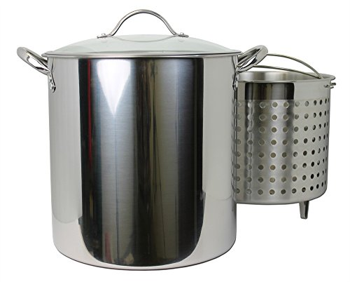 Kitchen Collection 30 Quart Stainless Steel Steamer Stock Pot 03007 -