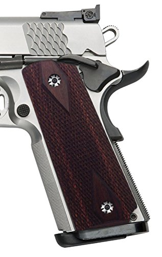 COOL HAND 1911 Grips, Full Size(Government/Commander), Diamond Cut, Rosewood,Ambi Safety Cut
