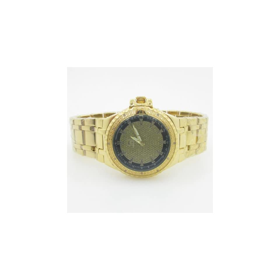 Techno Master Mens Yellow Gold Diamond Watch