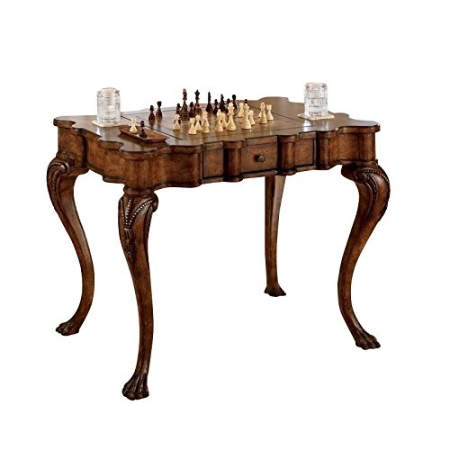 (Beaumont Lane Wood Game Table in Burnt Wine)