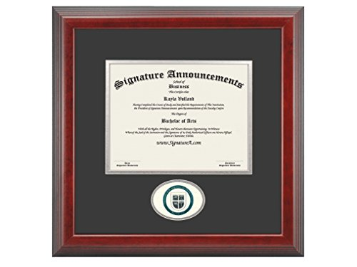 Signature Announcements University-of-St-Augustine-for-Health-Sciences Undergraduate, Graduate/Professional/Doctor Sculpted Foil Seal Diploma Frame, 16'' x 16'', Cherry by Signature Announcements