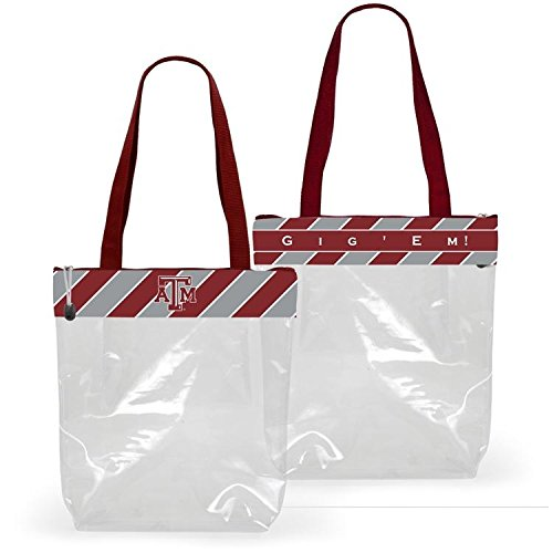 Desden New Clear Stadium Zipper Tote Perfect for Work & Sports Games - Texas A&M