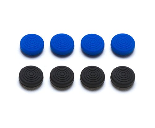 Snakebyte Control: Caps - 8x Thumb Grips for PlayStation 4 Controller / Gamer Pad (4x Black/ 4x Blue)