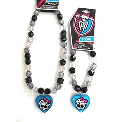 Monster High Necklace and Bracelet- Blue Charm: Toys & Games