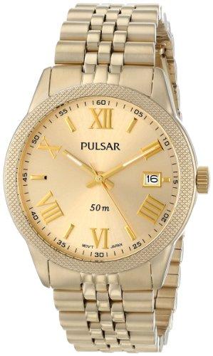Pulsar Women's PS9218 Analog Display Japanese Quartz Gold - Watch Wrist Pulsar Gold