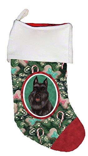 - Best of Breed Schnauzer Black Cropped Dog Breed Christmas Stocking