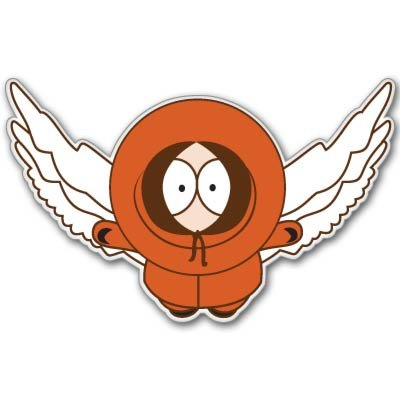 South Park Kenny McCormick wings Vynil Car Sticker Decal - Select Size