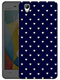 "Humor Gang Cute Little Hearts - Blue Printed Designer Mobile Back Cover For ""Vivo Y51L"" (3D, Matte Finish, Premium Quality, Protective Snap On Slim Hard Phone Case, Multi Color)"