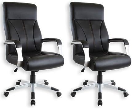 Silla de oficina silla de oficina PATRICK en 2 Pack: Amazon.es: Hogar
