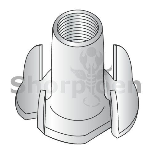 4 Prong Tee Nut 18 8 Stainless Steel 1/4-20 x 5/16 (Box of 1000) weight7.9Lbs by Korpek.com