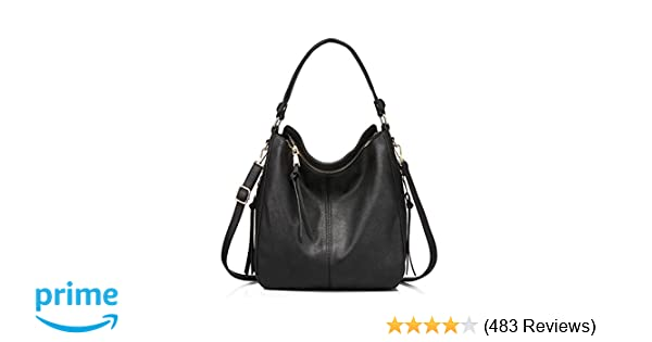 7a893e845f Amazon.com  Handbags for Women Large Designer Ladies Hobo bag Bucket Purse  Faux Leather in Small Size