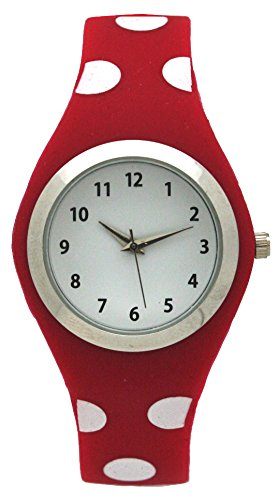 Summer Pack Silicone Watch For Women With White Dial Face (Red)