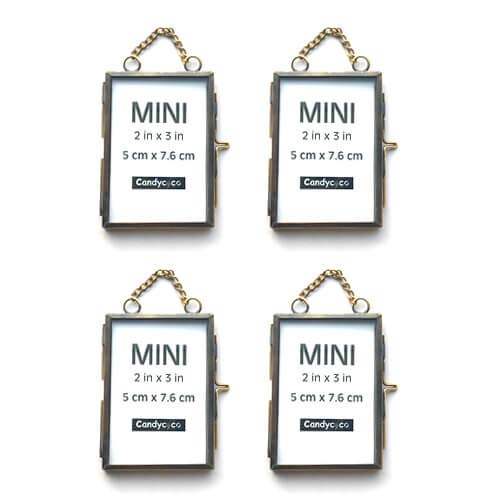 - CandyCoCo 2x3 Metal Picture Frame Extra Hanging Mini Photo Frame for Family Tree (Bronze, Set of 4)