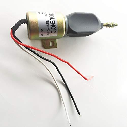 Blueview 12V Shut off stop solenoid valve 1751ES-12E2ULB1 for Woodward Diesel Engine ()