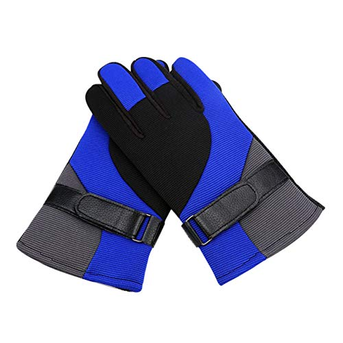 Liobaba Winter Warm Cycling Racing Gloves Full Finger Anti Slip Motorcycle Protective Gloves Windproof Outdoor Sports Gloves